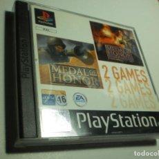 Videojuegos y Consolas: PS1 2 GAMES MEDAL OF HONOR. MEDAL OF HONOR UNDERGROUND 2 DISCOS 1 MANUAL (BUEN ESTADO). Lote 272498788