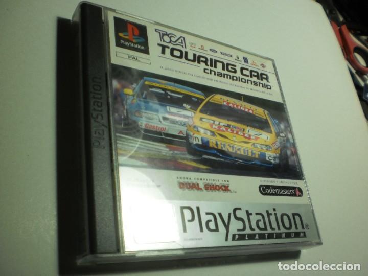 PS1 TOURING CAR CHAMPIONSHIP. CON DISCO Y MANUAL (BUEN ESTADO) (Juguetes - Videojuegos y Consolas - Sony - PS1)