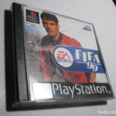 Videojuegos y Consolas: PS1 FIFA 99 CON DISCO Y MANUAL (BUEN ESTADO, PERO TAPA DE LA CAJA AGRIETADA). Lote 272502428