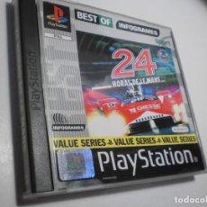 Videojuegos y Consolas: PS1 24 HORAS DE LE MANS. CON DISCO Y MANUAL (BUEN ESTADO). Lote 272724978