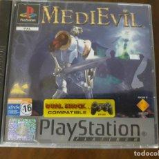 Videojuegos y Consolas: PS1 MEDIEVIL PLATINUM ESPAÑOL COMPLETO. Lote 276073298