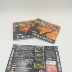 Videojuegos y Consolas: MAXIMUN MANUAL Y CARATULAS PS1. Lote 277524748
