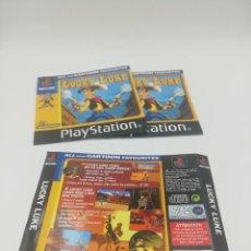 Videojuegos y Consolas: LUCKY LUKE MANUAL Y CARATULAS PS1. Lote 277525583