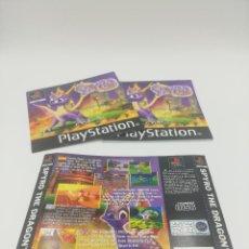 Videojuegos y Consolas: SPYRO MANUAL Y CARATULAS PS1. Lote 277525803