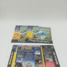 Videojuegos y Consolas: LOS PITUFOS MANUAL Y CARATULAS PS1. Lote 277526713