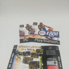 Videojuegos y Consolas: NBA LIVE 99 MANUAL Y CARATULAS PS1. Lote 277527608