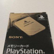 Videojuegos y Consolas: TARJETA MEMORIA ORIGINAL PS1 SONY CAJA JAPONESA #1 SCPH-1020. Lote 279572803
