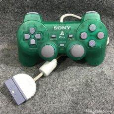 Videojuegos y Consolas: DUALSHOCK PSONE VERDE TRANSPARENTE SONY PLAYSTATION PS1. Lote 287805023