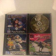 Videojuegos y Consolas: LOTE DE 4 JUEGOS ORIGINALES PLAYSTATION 1 . VER FOTOS. Lote 289649593