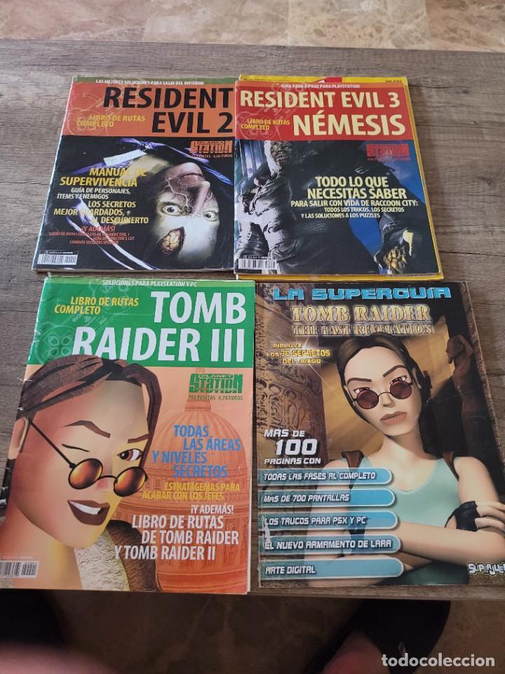 LOTE 5 REVISTAS VINTAGE PLAYSTATION GUIAS Y TRUCOS -TOMB RAIDER-RESIDENT EVIL. (Juguetes - Videojuegos y Consolas - Sony - PS1)