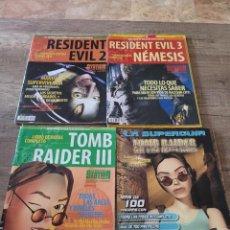 Videojuegos y Consolas: LOTE 5 REVISTAS VINTAGE PLAYSTATION GUIAS Y TRUCOS -TOMB RAIDER-RESIDENT EVIL.. Lote 290130378