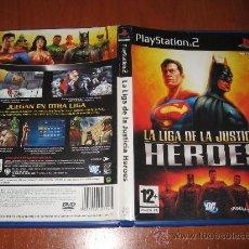 Videojuegos y Consolas: LA LIGA DE LA JUSTICIA HEROES JUSTICE LEAGUE PARA PS2 PAL ESPAÑA COMPLETO. Lote 35918461