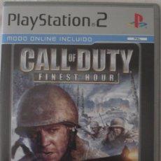 Videojuegos y Consolas: JUEGO PS2. CALL OF DUTY FINEST HOUR. JUEGO EN Y EN ESPAÑOL.. Lote 28902509