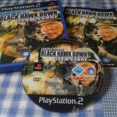 Videojuegos y Consolas: BLACK HAWK DOWN TEAM SABRE PARA SONY PLAYSTATION 2 PS2 PAL COMPLETO VERSIÓN ESPAÑOLA. Lote 29537151