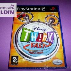 Videojuegos y Consolas: DISNEY THINK FAST NUEVO PRECINTADO PAL ESPAÑA PLAYSTATION 2 PS2. Lote 35589441