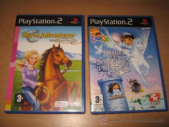 2 Juegos Ps2 Barbie Horse Adventures Y Dora Pri Comprar