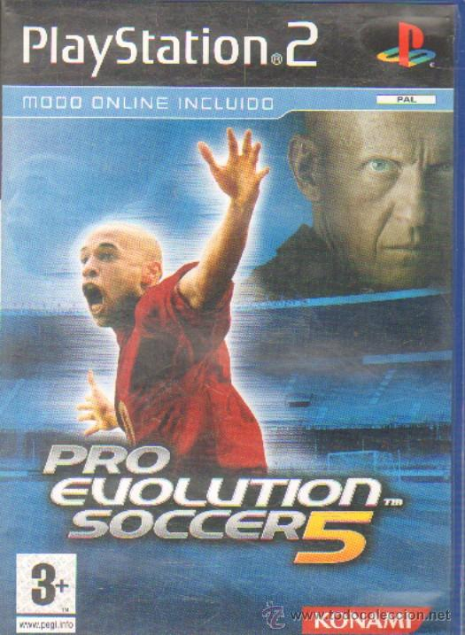 PRO EVOLUTION SOCCER 5 - PLAY STATION 2 - PS2 - MANUAL Y TEXTOS EN  CASTELLANO RF/VDJ-001