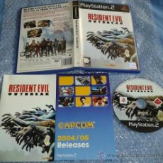 Videojuegos y Consolas: RESIDENT EVIL (BIOHAZARD) OUTBREAK PS2 PSTWO PLAYSTATION 2 SONY CAPCOM COMPLETO. Lote 35695784