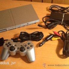 Videojuegos y Consolas: CONSOLA SONY PLAY STATION PLAYSTATION 2 PS2 PAL SLIM GRIS FUNCIONANDO CORRECTAMENTE. Lote 42956795