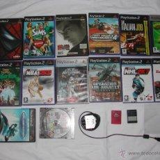 Videojuegos y Consolas: PLAYSTATION 2 - PS 2 - LOTE DE 14 JUEGOS ORIGINALES + 2 TARJETAS 8 MB. + REGALO CÁMARA. Lote 40488570