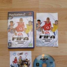 Videojuegos y Consolas: FIFA FOOTBALL 2004 JUEGO PLAYSTATION 2 EDICIÓN ESPAÑOLA PS2. Lote 41260608