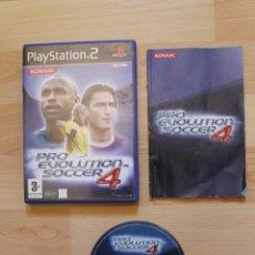 Videojuegos y Consolas: PRO EVOLUTION SOCCER 4 JUEGO PLAYSTATION 2 EDICIÓN ESPAÑOLA PS2. Lote 41261035