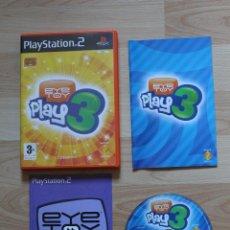 Videojuegos y Consolas: EYE TOY PLAY 3 JUEGO PLAYSTATION 2 EDICIÓN ESPAÑOLA PS2. Lote 41402383
