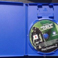 Videojuegos y Consolas: PS2 TOM CLANCY`S SPLINTER CELL CHAOS THEORY, SIN CARATULA, PAL ESPAÑA. Lote 42398760