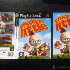 Videojuegos y Consolas: PS2- CHICKEN LITTLE PAL/ESP -**** CARÁTULA Y MANUAL **** SIN JUEGO. Lote 112827610