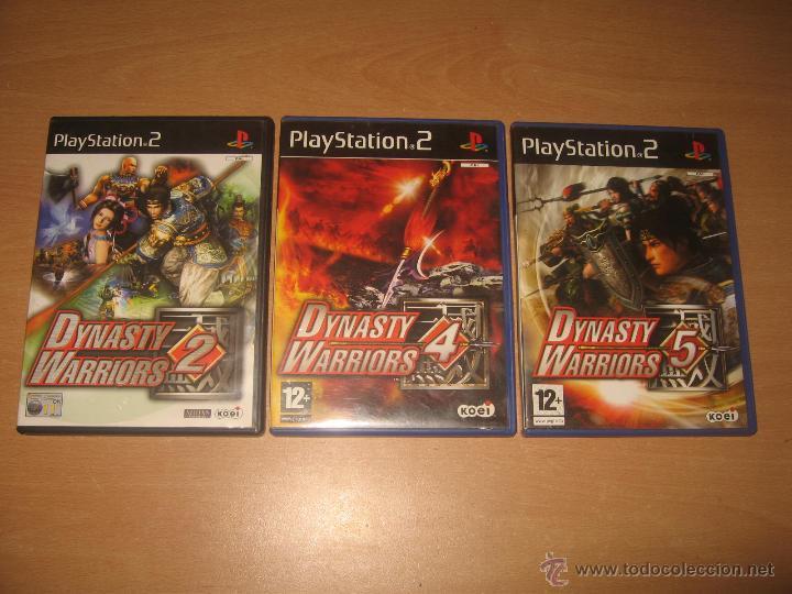 3 JUEGOS DYNASTY WARRIORS 2 4 Y 5 PS2 PAL ESPAÑA COMPLETOS / KOEI (Juguetes - Videojuegos y Consolas - Sony - PS2)
