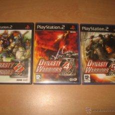 Videojuegos y Consolas: 3 JUEGOS DYNASTY WARRIORS 2 4 Y 5 PS2 PAL ESPAÑA COMPLETOS / KOEI. Lote 43941501