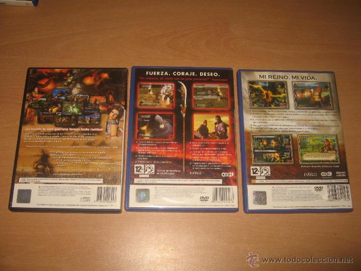 Videojuegos y Consolas: 3 JUEGOS DYNASTY WARRIORS 2 4 y 5 PS2 PAL ESPAÑA COMPLETOS / KOEI - Foto 2 - 43941501