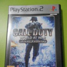 Videojuegos y Consolas: JUEGO PS2 CALL OF DUTTY, WORLD AT WAR PLATINUM. Lote 45339622