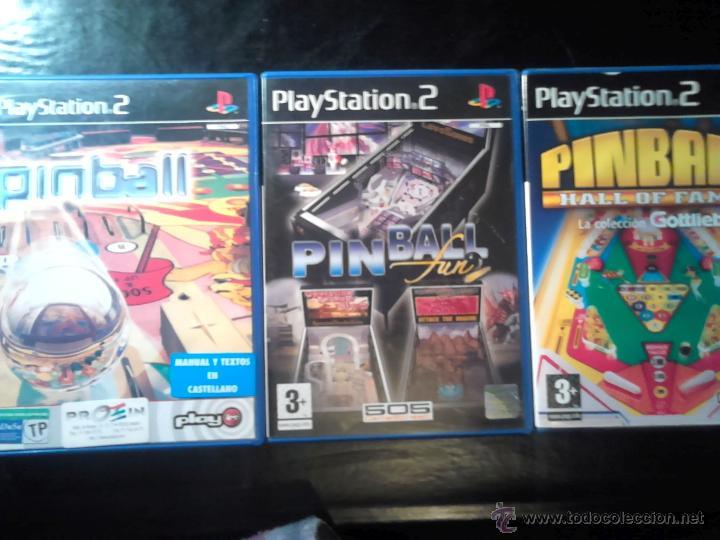 PINBALL - LOTE PACK 3 DISCOS - PLAYSTATION 2 - SIN USAR (Juguetes - Videojuegos y Consolas - Sony - PS2)
