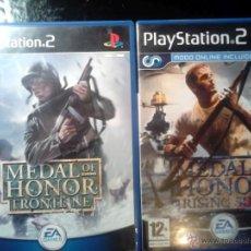 Videojuegos y Consolas: MEDAL OF HONOR - PACK LOTE 2 JUEGOS - PLAYSTATION 2 - 2 DISCOS. Lote 46686590