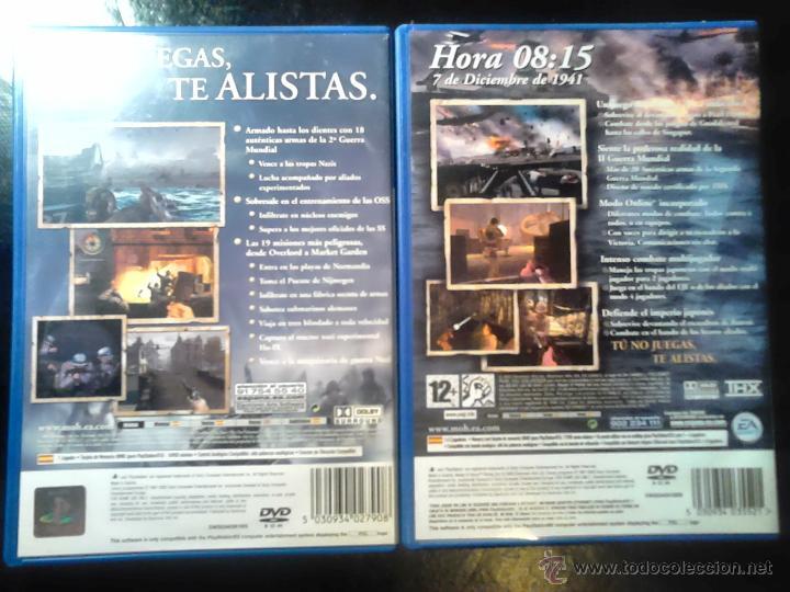 Videojuegos y Consolas: MEDAL OF HONOR - PACK LOTE 2 JUEGOS - PLAYSTATION 2 - 2 DISCOS - Foto 2 - 46686590