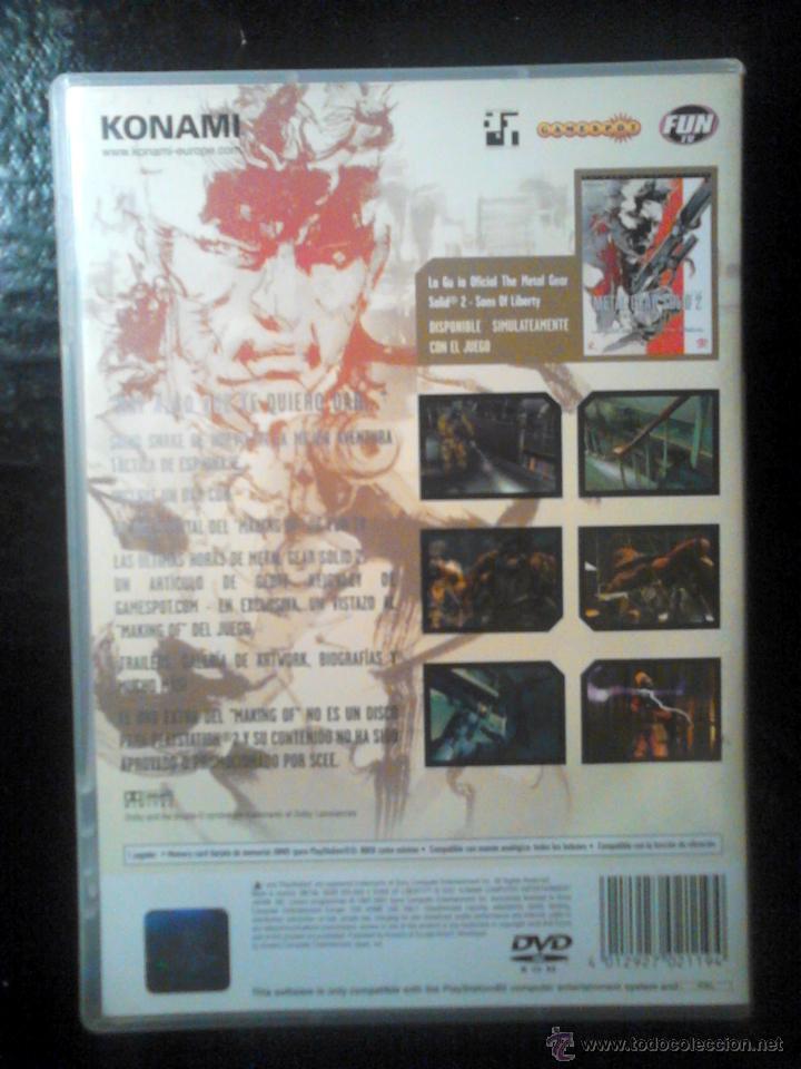 Videojuegos y Consolas: METAL GEAR SOLID 2 : Sons of Liberty - EDICIÓN BUENÍSIMA - PLAYSTATION 2 - 2 DISCOS - Foto 2 - 46686808