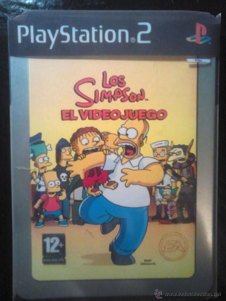 LOS SIMPSON - EL VIDEOJUEGO DE LOS SIMPSONS - PLAYSTATION 2 - 2 DISCOS (Juguetes - Videojuegos y Consolas - Sony - PS2)