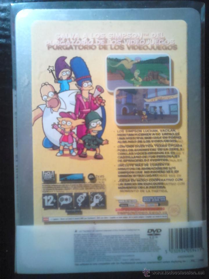 Videojuegos y Consolas: LOS SIMPSON - EL VIDEOJUEGO DE LOS SIMPSONS - PLAYSTATION 2 - 2 DISCOS - Foto 3 - 46687008