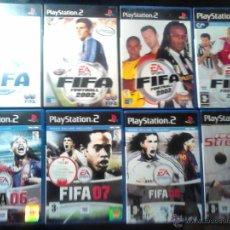 Videojuegos y Consolas: FIFA FOOTBALL 2001, 2002, 2003, 2004, 06, 07, 08 Y STREET - COLECCIÓN 8 DISCOS - LOTE PLAYSTATION 2. Lote 46688518