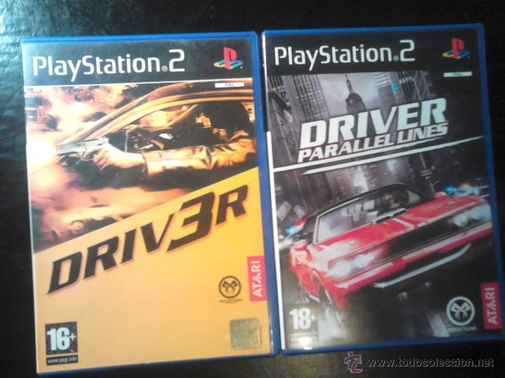 DRIV3R Y DRIVER PARALLEL LINES - LOTE PACK 2 DISCOS - PLAYSTATION 2 (Juguetes - Videojuegos y Consolas - Sony - PS2)