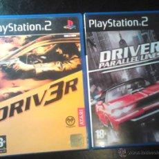 Videojuegos y Consolas: DRIV3R Y DRIVER PARALLEL LINES - LOTE PACK 2 DISCOS - PLAYSTATION 2. Lote 46688816