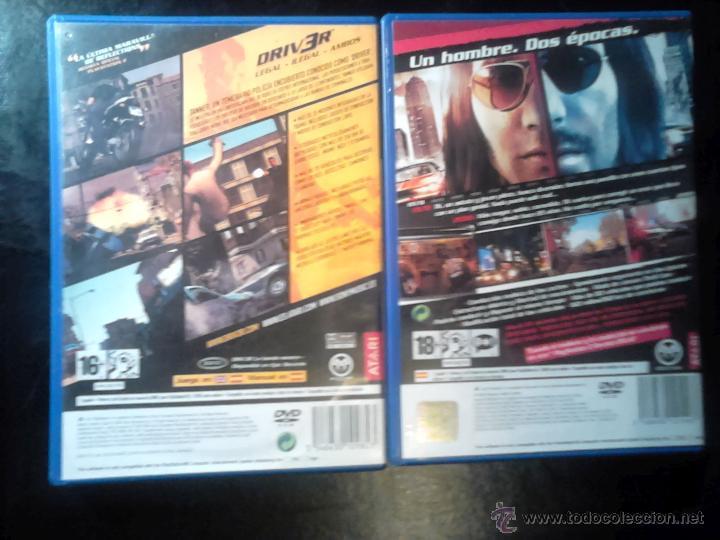Videojuegos y Consolas: DRIV3R Y DRIVER Parallel Lines - LOTE PACK 2 DISCOS - PLAYSTATION 2 - Foto 2 - 46688816