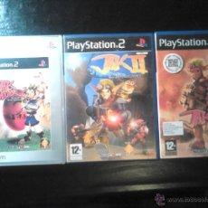 Videojuegos y Consolas: JAK AND DAXTER I , II Y III - TRILOGÍA PLAYSTATION 2 - PACK LOTE DE 3 DISCOS. Lote 46689740