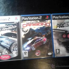 Videojuegos y Consolas: NEED FOR SPEED - LOTE PACK 3 DISCOS - PLAYSTATION 2 - CARBONO, PROSTREET, MOST WANTED. Lote 46728833