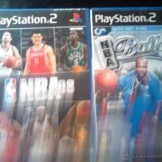 Videojuegos y Consolas: NBA 08 + NBA BALLERS - PACK LOTE 2 DISCOS - PLAYSTATION 2. Lote 46728942