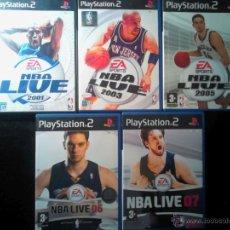 Videojuegos y Consolas: NBA LIVE - EA ESPORTS - PLAYSTATION 2 - PACK LOTE RECOPILACIÓN VARIOS - 2001, 2003, 2005, 06, 07. Lote 46729047