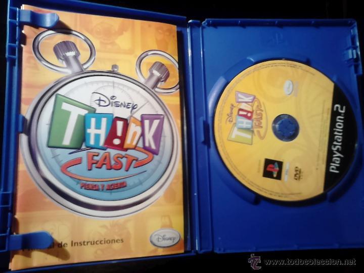 Videojuegos y Consolas: DISNEY TH!NK FAST - PLAYSTATION 2 - Disney Think Fast - JUEGO PARA PULSADORES BUZZ - Foto 3 - 46729948