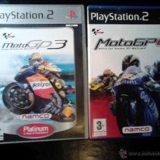 Videojuegos y Consolas: MOTOGP3 Y MOTOGP4 - MOTO GP 3 Y MOTO GP 4 - PLAYSTATION 2 - PACK LOTE 2 DISCOS. Lote 46730136