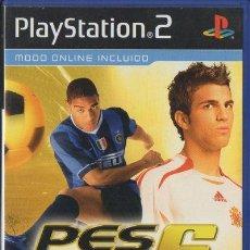 Videojogos e Consolas: PLAY STATION 2. PES 6. PRO EVOLUTION SOCCER 6. MODO ONLINE INCLUIDO. COMPLETO. VIDJUEG-055 ,2. Lote 145045552